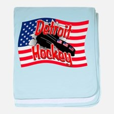 Detroit Hockey baby blanket