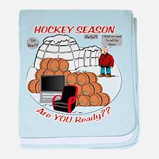 Hockey Season baby blanket