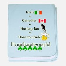 St. Patrick's Day Mathematics baby blanket