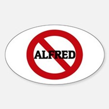 Anti-Alfred Oval Decal