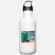 Hockey Christmas Cards & Gift Water Bottle