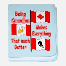 Being Canadian baby blanket