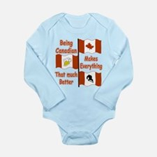 Being Canadian Long Sleeve Infant Bodysuit