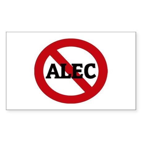 Anti-Alec Rectangle Sticker