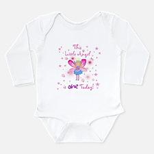 Angel 1st Birthday Long Sleeve Infant Bodysuit