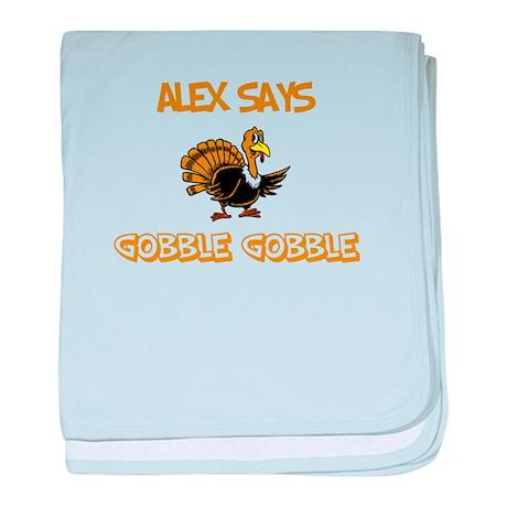 Alex Says Gobble Gobble baby blanket