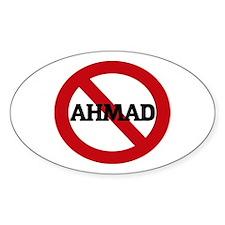 Anti-Ahmad Oval Decal