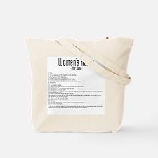 Women's Rules Tote Bag