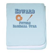 Edward - Future Baseball Star baby blanket