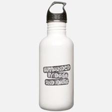 Dogs and Idiots Water Bottle