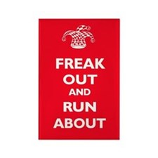 Keep Calm Parody: Freak Out Rectangle Magnet