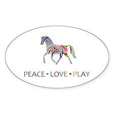 Peace Love Play Decal