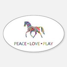 Peace Love Play Decal