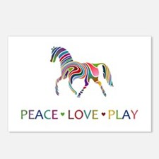 Peace Love Play Postcards (Package of 8)