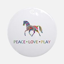 Peace Love Play Ornament (Round)