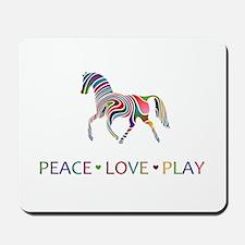 Peace Love Play Mousepad
