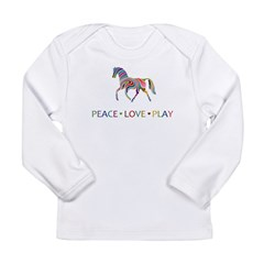 Peace Love Play Long Sleeve Infant T-Shirt
