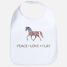 Peace Love Play Bib
