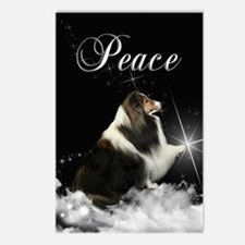 Magic Sheltie Xmas Postcards (Package of 8)