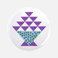 """Flower Pot Quilt 3.5"""" Button (100 pack)"""