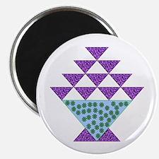 "Flower Pot Quilt 2.25"" Magnet (100 pack)"
