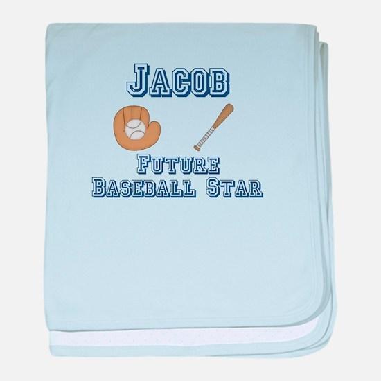 Jacob - Future Baseball Star baby blanket
