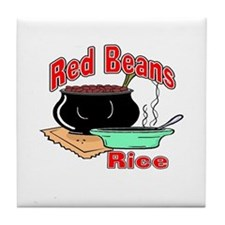 Red Beans and Rice Tile Coaster