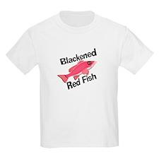 Blackened Red Fish Kids T-Shirt