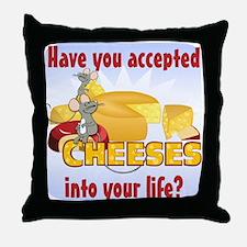 Accept Cheeses Throw Pillow