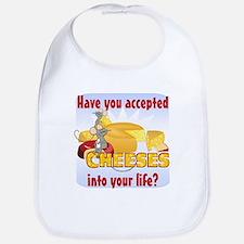 Accept Cheeses Bib