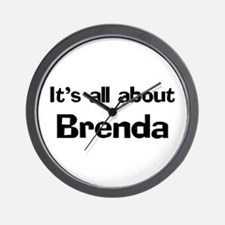 It's all about Brenda Wall Clock