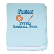 Jonah - Future Baseball Star baby blanket