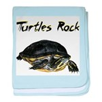 Turtles Rock baby blanket