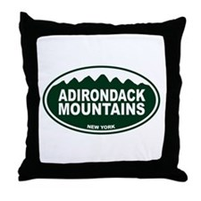 Adirondack Mountains Throw Pillow