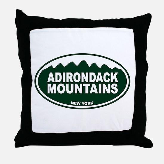 Adirondack Mountains Throw Pillow