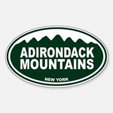 Adirondack Mountains Sticker (Oval)