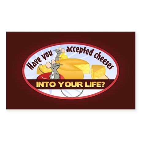 Accept Cheeses Sticker (Rectangle)