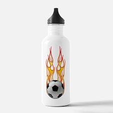 Soccer fire Water Bottle