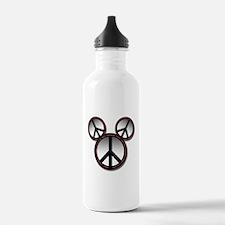 Peace love hope black Water Bottle