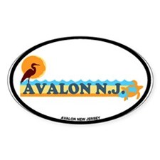 Avalon NJ - Beach Design Decal