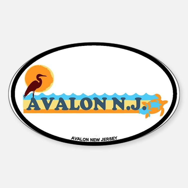 Avalon NJ - Beach Design Decal