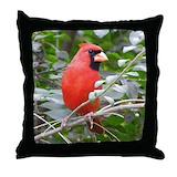 Cardinal bird Throw Pillows