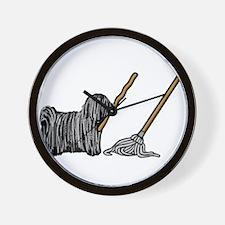 Puli Mop Wall Clock