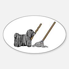 Puli Mop Sticker (Oval)