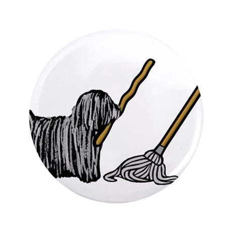 "Puli Mop 3.5"" Button (100 pack)"