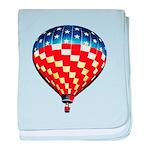 American Hot Air Balloon baby blanket