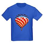 American Hot Air Balloon Kids Dark T-Shirt