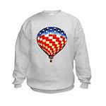 American Hot Air Balloon Kids Sweatshirt