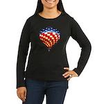 American Hot Air Balloon Women's Long Sleeve Dark