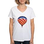 American Hot Air Balloon Women's V-Neck T-Shirt